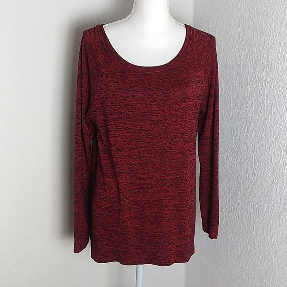 Cato Tops - Cato Red/Black Long Sleeve Pullover
